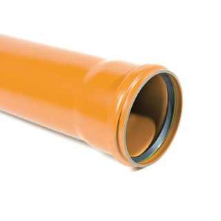 WAVIN 4 (110MM) SEWER PIPE SOCKETED 6M LENGTH