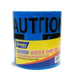 SAFELINE CAUTION WATER PIPE BELOW BLUE WARNING TAPE