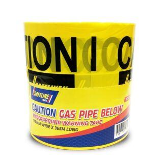 SAFELINE CAUTION GAS PIPE BELOW YELLOW WARNING TAPE