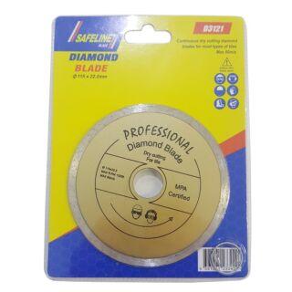 SAFELINE DIAMOND BLADE FOR TILE 115MM X 22.2MM
