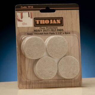 TROJAN 1 1/2 ROUND HEAVY DUTY FELT PADS 8 PACK