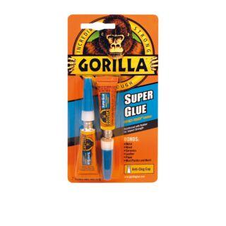 GORILLA 2 X 3GM SUPER GLUE TWIN PACK
