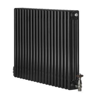 REVIVE 3 COLUMN HORIZONTAL RADIATOR 600MMX904MM BLACK