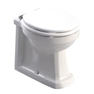 WESTBURY BACK TO WALL WC- WHITE MDF SEAT