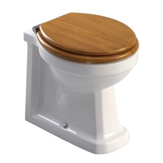 WESTBURY BACK TO WALL WC- OAK MDF SEAT