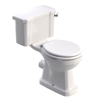 WESTBURY CLOSE COUPLED WC - WHITE MDF SEAT