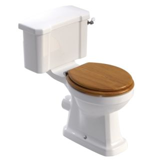WESTBURY CLOSE COUPLED WC - OAK MDF SEAT