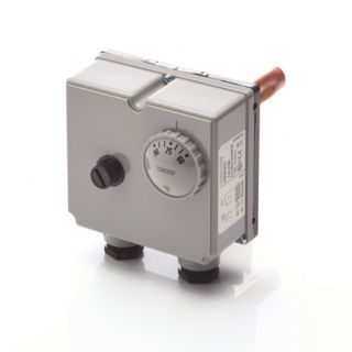 DUAL IMMERSION THERMOSTAT 1/2 POCKET 60-90° CONT 90-110°