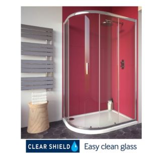 CITY PLUS 1200X900MM OFFSET QUADRANT SINGLE DOOR