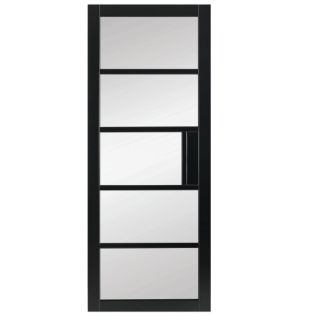 MAYFAIR CRITTALL CLEAR GLASS PREMIUM PRIMED BLACK 78X24