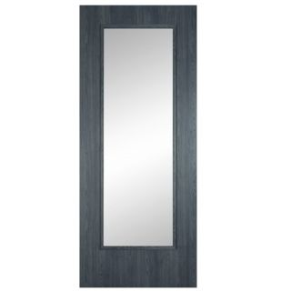 ERKADO SHAKER MIDNIGHT GREY CLEAR GLASS 78X24