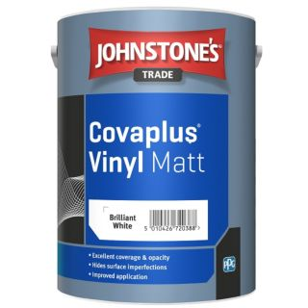 JOHNSTONE'S TRADE COVAPLUS VINYL MATT BRILLIANT WHITE 5 LTR