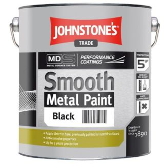 JOHNSTONES TRADE SMOOTH METAL BLACK  - 2.5LTR