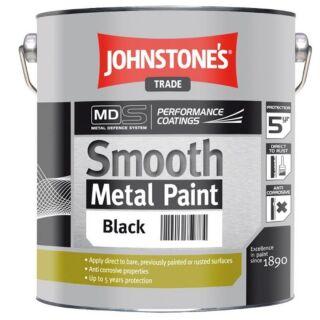 JOHNSTONES TRADE SMOOTH METAL BLACK  - 5LTR