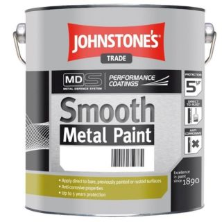 JOHNSTONES TRADE SMOOTH METAL WHITE  - 2.5LTR