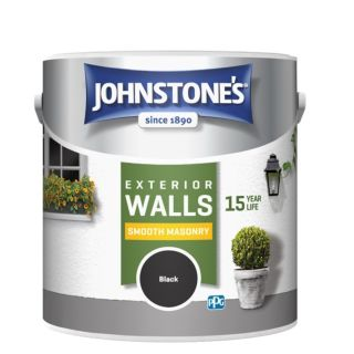 JOHNSTONES RETAIL SMOOTH MASONRY BLACK - 2.5LTR