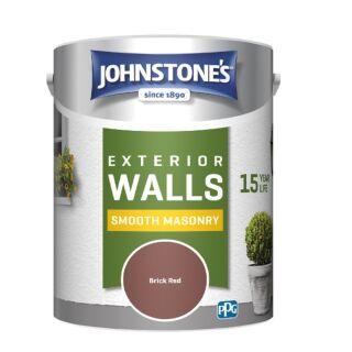 JOHNSTONES RETAIL SMOOTH MASONRY BRICK RED - 2.5LTR