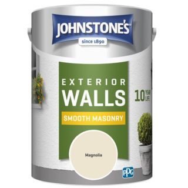 JOHNSTONES RETAIL SMOOTH MASONRY MAGNOLIA - 5LTR