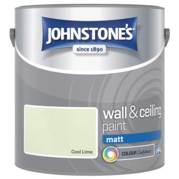 JOHNSTONES RETAIL VINYL SOFT SHEEN COOL LIME 2.5L