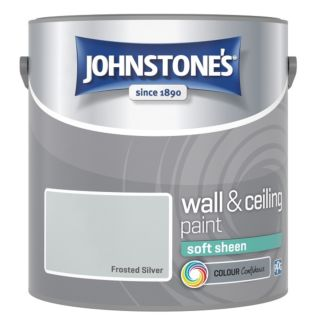 JOHNSTONES RETAIL VINYL SOFT SHEEN FROSTED SILVER 2.5L