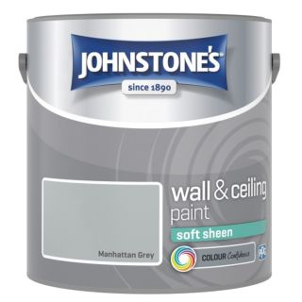 JOHNSTONES RETAIL VINYL SOFT SHEEN MANHATTAN GREY 2.5L