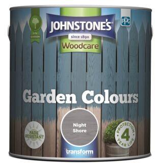 JOHNSTONES WOODCARE GARDEN COLOURS NIGHT SHORE  2.5LTR