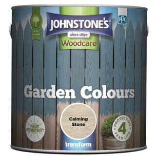 JOHNSTONES WOODCARE GARDEN COLOURS CALMING STONE 2.5LTR