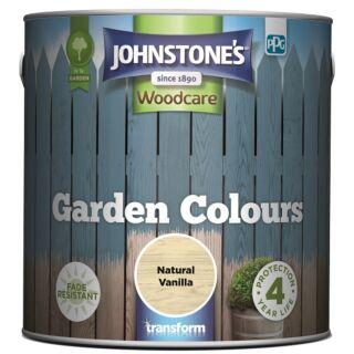 JOHNSTONES WOODCARE GARDEN COLOURS NATURAL VANILLA 2.5LTR